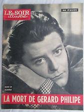 LE SOIR ILLUSTRE 1432  DU 03/12/1959 LA MORT DE GERARD PHILIPPE
