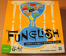 Hasbro FUNGLISH Family Game - Express It & Guess It! - Complete - VGC