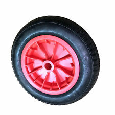 "Wheelbarrow REPLACEMENT 1x 14"" Wheel Pneumatic Inflatable Tyre 3.50-8 S247 Red"