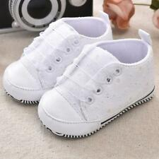 Infant Newborn Toddler Lace Up Soft Sole Baby Boy Girls Leather Crib Shoes 0-18M