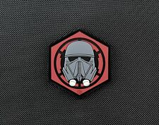 3D PVC First Order Death Trooper Helmet Patch GITD Star Wars Rogue One Episode 7