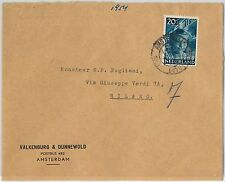 58199 -  NETHERLANDS - POSTAL HISTORY: COVER to ITALY - 1954
