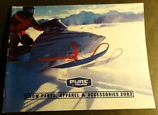 2002 POLARIS SNOWMOBILE CLOTHING & ACCESSORIES SALES BROCHURE 100 PAGES  (862)
