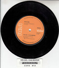 """BACCARA  Yes Sir, I Can Boogie  7"""" 45 rpm vinyl record + juke box title strip"""