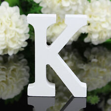 K Wood Wooden Letter White Alphabet Freestanding Art Home Wedding Party Decor 01