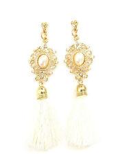 Avorio Crema Oro Nappa Orecchini Art Deco 1920s Grande Gatsby Vintage Perla 422