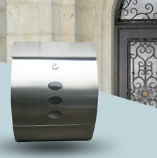 SLIVER MAIL BOX POSTBOX LETTER BOX WALL POST BOX LOCKABLE WITH KEYS UK