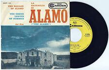 """7"""" TED BENEKE La battaglia di Alamo OST (Rca Camden 60 ITALY) western unique EX!"""