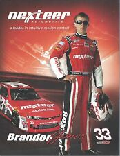 "2016 BRANDON JONES ""NEXTEER AUTOMOTIVE"" #33 NASCAR XFINITY SERIES POSTCARD"