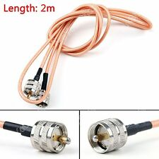 2m RG142 Kable PL259 UHF Male To UHF Male Für Auto Radio Antenne Pigtail 6ft