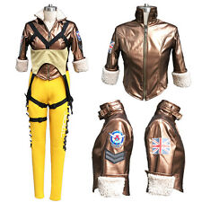 OVERWATCH OW Tracer Lena Oxton Lady Cosplay Costume Only Jacket Coat Custom Made