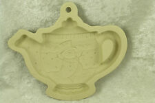 Mary Engelbreit Stoneware Cookie Paper Crafts Mold Christmas Teapot w/ Snowman