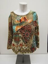 Caia Womens Size M Embellished Bright Top, 9182