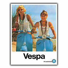 VESPA PIAGGIO Vintage Retro Old Advert METAL WALL SIGN PLAQUE poster print