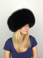 Finn Fox Fur Hat with Leather. 100% Real Genuine Fur and Leather. Best Quality