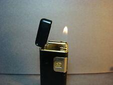 Vtg Colibri Touch Sensor Lighter_Black Enamel & Gold Plate_Working  no Issues