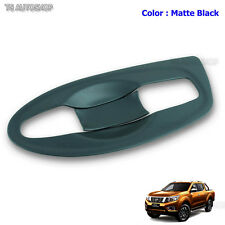 MATTE BLACK 4DR HANDLE BOWL INSERT COVER Fit NISSAN NAVARA NP300 D23 2015-2016