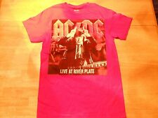 OFFICIAL AC/DC LIVE AT RIVER PLATE RED T-SHIRT SIZE: MEDIUM  *NEW**