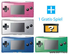 GameBoy Micro Console (Colour By Choice) + FREE Nintendo GBA game TOP