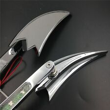 For Harley Sportster XL CHROME LED Turn signal Crooked Arrow style mirrors