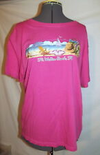 "Womens hot pink t-shirt Alvin's island FT. WALTON BEACH FLORIDA medium 44"" chest"