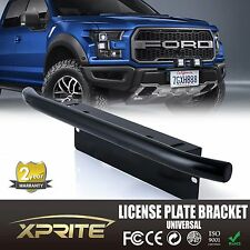 Aluminum Front Bumper License Plate Mount Braket Off-Road LED Spot Light Bar
