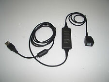 DA200 RJ9 Modular Socket to USB Plug fits Jabra / Plantronics Wireless Headsets