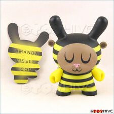 Kidrobot Dunny 2009 vinyl Bumble Bee figure by Amanda Visell with card loose