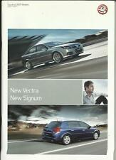 VAUXHALL VECTRA AND SIGNUM SALES BROCHURE  2007