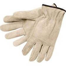 New Mens Sz Medium Split Leather Drivers Work Truck Driver Driving Work Gloves