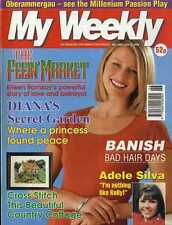 MY WEEKLY MAGAZINE 3/7/1999 ADELE SILVA, CROSS STITCH COUNTRY COTTAGE, DIANA