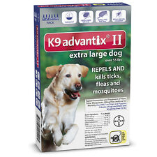 K9 ADVANTIX II for Extra Large Dogs over 55 lbs (6 PACK)  USA EPA APPROVED !!!