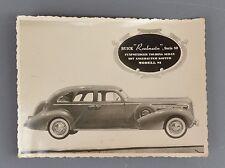 ✇ BUICK Roadmaster Modell 81 Pressefoto von 1937