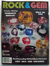 ROCK & GEM MAGAZINE MARCH 1982 ROCKHOUND AND LAPIDARY,BOLA TIE TIPS