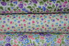 lot de 3 coupons de tissu patchwork liberty fleuris violet 24x55cm