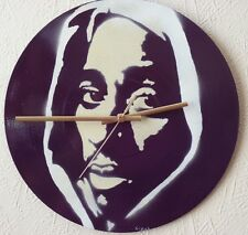 TUPAC classic clock,Beastie boys.eminem,blur.daft punk.biggie smalls.pop art,