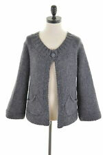 White Stuff Womens Cardigan Sweater Size 12 Medium Grey Wool Vintage