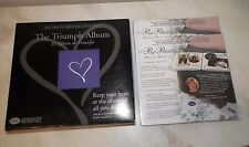 CREATIVE MEMORIES THE TRIUMPH ALBUM PURPLE WITH PAPERED PAGES & PROTECTORS & BOX