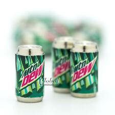 Dollhouse Miniatures Mountain Dew Soda Can Drinks Beverages Supply