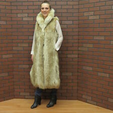 ladies real CANADIAN woof COYOTE FUR VEST GILLET coat- small FREE SHIP USA!