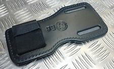 Genuine British Military / Police Black PWL Heavy Duty Leather Grip Board