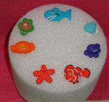 Sea Creatures, Edible cupcake Toppers, Royal Icing, Ocean animals,DecoPac