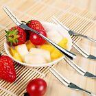 4pcs/set Cocktail Dessert Fork Tasting Stainless Steel Appetizer Cake Fruit Fork