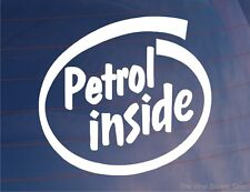 PETROL INSIDE Novelty Fun Car/Van/Bike/Window/Bumper Vinyl Sticker/Decal