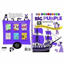 Ed Emberley's Big Purple Drawing Book kids ages 7+ fun easy learn to draw 96p