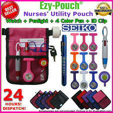 Pink Ezy-Pouch® Nurse Pouch Bag Pocket Pick a Medical Pen+Light Watch+Gift Pack