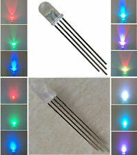 50 LED DIODI ANODO/CATODO COMUNE 4 pin 5MM RGB MULTICOLORE LUMINOSITA 15000 MCD