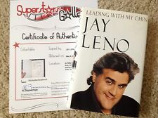 """JAY LENO In-Person Signed Book with a SuperStars Gallery """"SSG"""" COA - PROOF"""