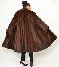 US967 Modern Mink fur coat jacket full length Large Collar Nerzmantel ca.4XL