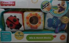 FISHER PRICE MIX & MATCH BLOCKS SOUNDS & ACTION H9810  *NEW*